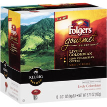 Folgers Gourmet Selections Lively Colombian Medium Roast K-Cups Coffee