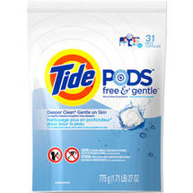 Tide PODS Free & Gentle HE Laundry Detergent