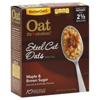 Better Oats Steel Cut Maple & Brown Sugar with Flax Seeds Instant Oatmeal