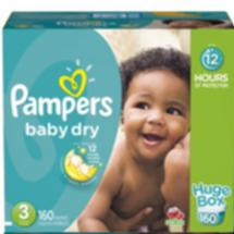 Pampers Baby Dry Diapers Huge Box Size 3 160 ct