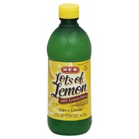 H-E-B Lots Of Lemon 100% Lemon Juice From Concentrate