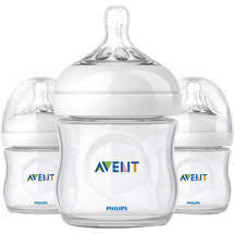 Philips AVENT SCF690/37 BPA Free Natural 4 Ounce Polypropylene Bottles