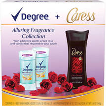 Degree & Caress Alluring Fragrance Deodorant & Body Wash Collection
