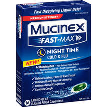 Mucinex Fast-Max Night Time Cold & Flu Liquid Gels