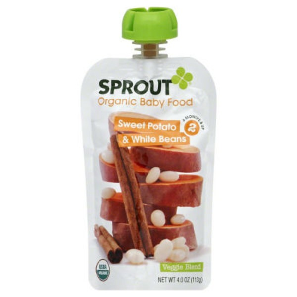 Sprouts Organic Baby Food Sweet Potato & White Beans