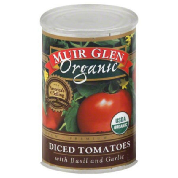 Muir Glen Organic Diced San Marzano Style with Basil & Garlic Tomatoes