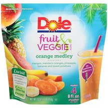 Dole Fruit & Veggie Blends Orange Medley Smoothies