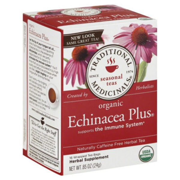 Traditional Medicinals Seasonal Teas Organic Echinacea Plus, Caffeine Free Herbal Tea