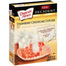 Duncan Hines Decadent Strawberry Cheesecake Cupcake Cake ; Frosting Mix