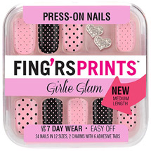 Fing'rs Prints Girlie Glam Press-on Nails Sassy Pants