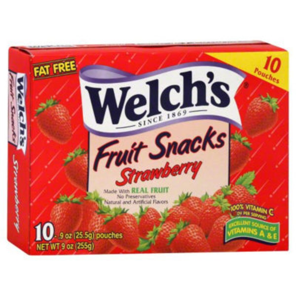 Welch's Fruit Snacks Strawberry Fruit Snacks