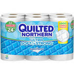 Quilted Northern Ultra Soft & Strong Toilet Paper 12 Double Rolls Bath Tissue