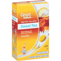 Great Value Sugar Free Low Calorie Sweet Tea Drink Mix
