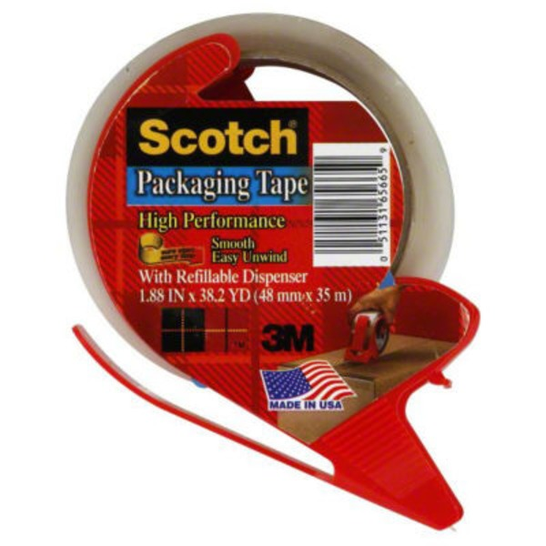 Scotch Shipping/Packing Clear Tape 1.88 in x 38.2 yd