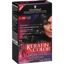 Schwarzkopf Keratin Color Anti-Age Hair Color Kit 1.0 Onyx Black