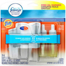 Febreze NOTICEables Original Scent with Tide Dual Scented Oil Refill + Warmer