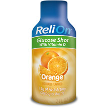 ReliOn Orange Glucose Shot Dietary Supplement