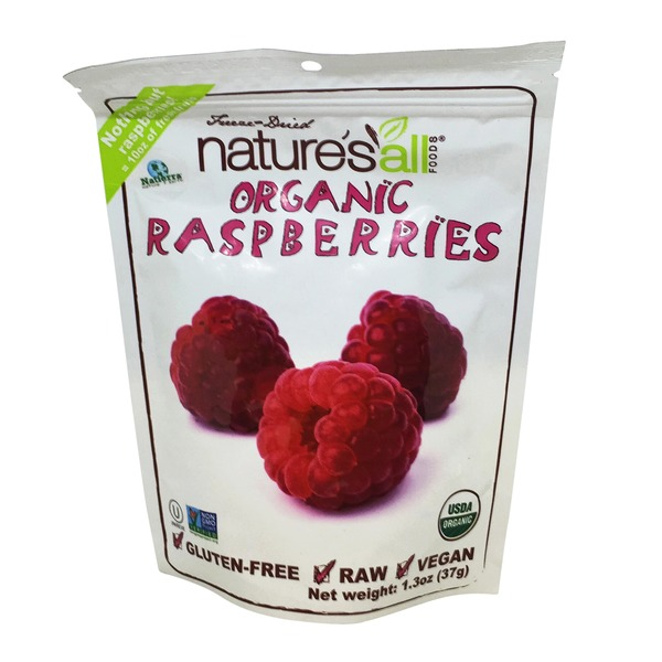 Natierra Freeze-Dried Nature's All Foods Organic Raspberries