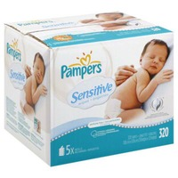 Pampers Sensitive Pampers Baby Wipes Sensitive 5X Refill 320 count Baby Wipes
