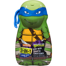 Nickelodeon Teenage Mutant Ninja Turtles 3-in-1 Body Wash Shampoo and Conditioner