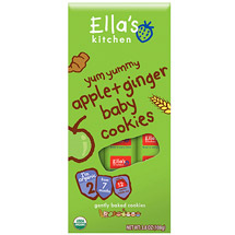 Ella's Kitchen Apple & Ginger Baby Cookies Stage 2 Baby Food