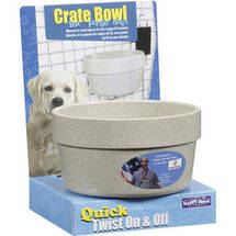 Happy Home Pet Products Crate Bowl For Large Dogs