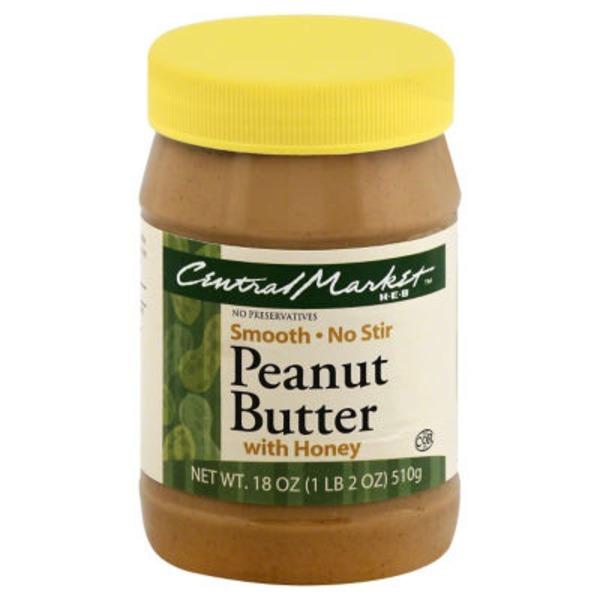 Central Market Smooth Peanut Butter With Honey