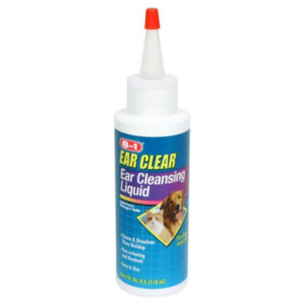 Ecotrition Excel Ear Clear Cleansing Liquid for Cats and Dogs