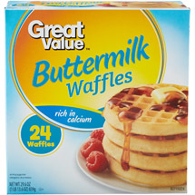 Great Value Buttermilk Waffles