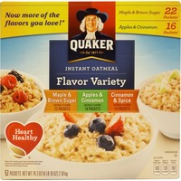 Quaker Oatmeal Maple & Brown Sugar/Apples & Cinnamon/ Cinnamon & Spice Flavor Variety Instant Oatmeal