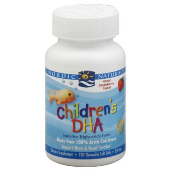Nordic Naturals Children's DHA Strawberry Chewable Soft Gel