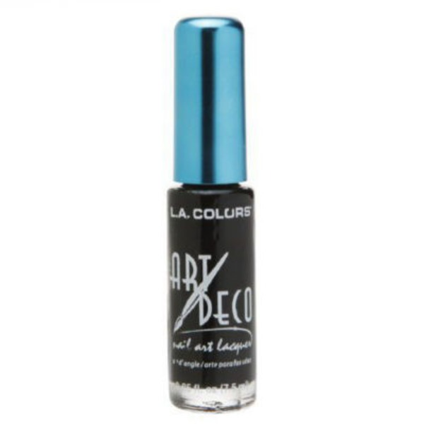 L.A. Colors Art Deco Black Nail Art Polish