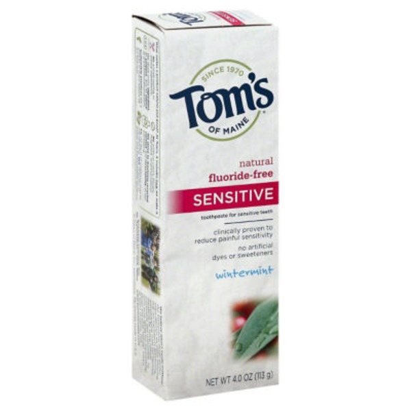 Tom's of Maine Sensitive Fluoride Free Natural Toothpaste Wintermint