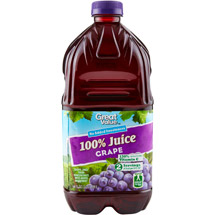 Great Value 100% Grape Juice 64 Fl Oz