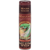 Badger Lip Balm, Cocoa Butter, Mocha Cocoa