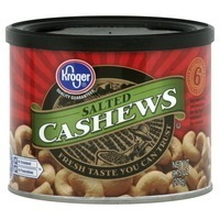 Kroger Salted Whole Cashews