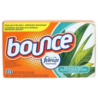 Bounce With Febreze Bounce Fabric Softener Dryer Sheet Meadows & Rain 70CT Fabric Enhancers