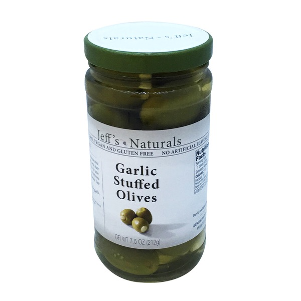 Jeff's Naturals Garlic Stuffed Olives