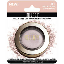 Milani Bella Eyes Gel Powder Eyeshadow 01 Bella Ivory Satin Matte