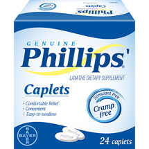 Phillips Caplets Laxative Dietary Supplement