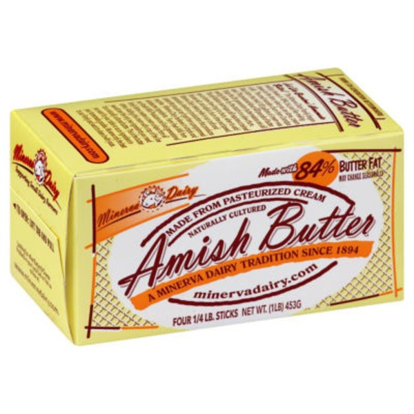 Minerva Dairy Naturally Cultured Amish Butter
