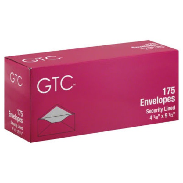 GTC Security Lined Envelopes 4 1/8