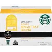 Starbucks Bright Sky Blend Blonde Roast K-Cup Pods Ground Coffee