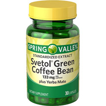 Spring Valley Green Coffee Bean Extract Dietary Supplement with Svetol and Yerba Mate