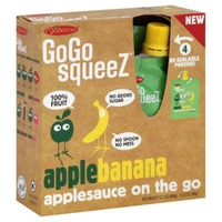 GoGo Squeez Applesauce On The Go Apple Banana - 4 CT