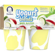 Gerber Graduates Apple Zucchini Yogurt Blends Snack