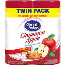 Great Value Cinnamon Apple Automatic Spray Air Freshener Refill (Pack of 2)