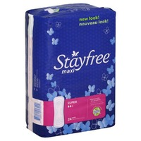 Stayfree Maxi Super Pads - 24 CT
