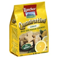 Loacker Quadratini Bite Size Wafer Cookies Lemon