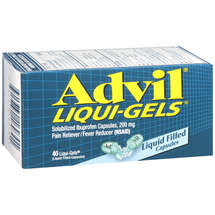 Advil Solubilized Ibuprofen Capsules 200 Mg Pain Reliever/Fever Reducer (Nsaid) Advil Liqui-Gels